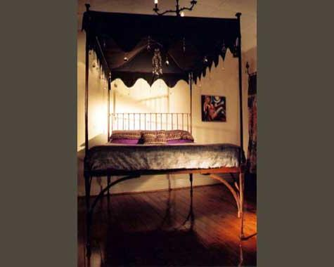Four-Poster Canopy Bed - Beds - Wrought Artworks - Iron work Australia