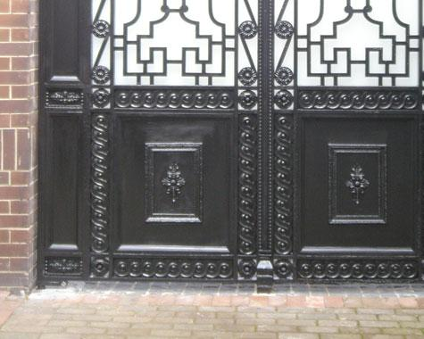 Empire Gate - detail of cast border. - Casting - Wrought Artworks - Iron work Australia