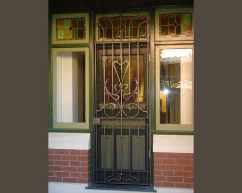 Art Nouveau Security Door - Security Doors and Grills - Wrought Artworks - Iron work Australia