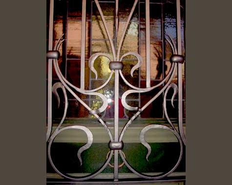 Art Nouveau Security Grill - Security Doors and Grills - Wrought Artworks - Iron work Australia