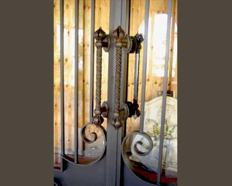 Onion Twist Door Handle - Security Doors and Grills - Wrought Artworks - Iron work Australia