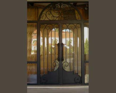 Grand Italian Entrance Door - Security Doors and Grills - Wrought Artworks - Iron work Australia