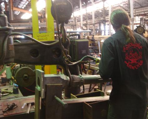 Drilling heritage posts with a spinning jig - Machining - Wrought Artworks - Iron work Australia
