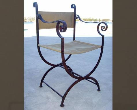 Roman Carver chair - Tables and Chairs - Wrought Artworks - Iron work Australia