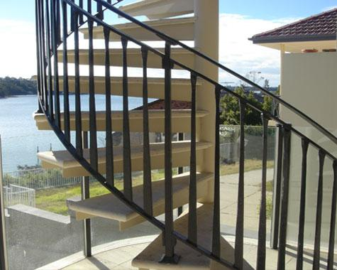 Spiral Staircase - Staircasses - Wrought Artworks - Iron work Australia