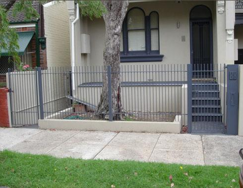 Plain and simple front fencing and gates - Gates and Fencing - Wrought Artworks - Iron work Australia