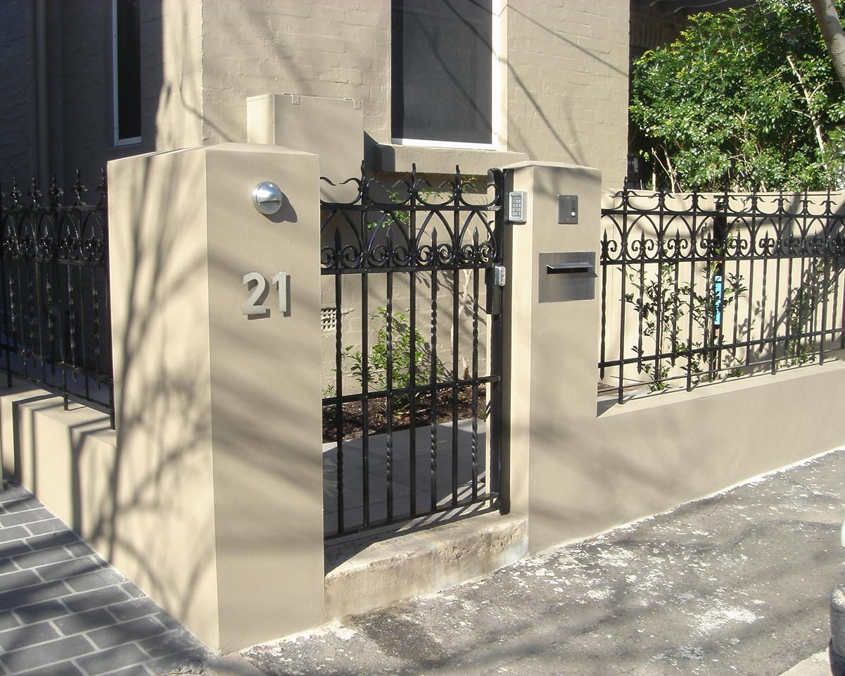 Reworked wrought iron antique panels - Gates and Fencing - Wrought Artworks - Iron work Australia
