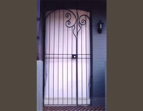 Security Door with Scroll - Security Doors and Grills - Wrought Artworks - Iron work Australia