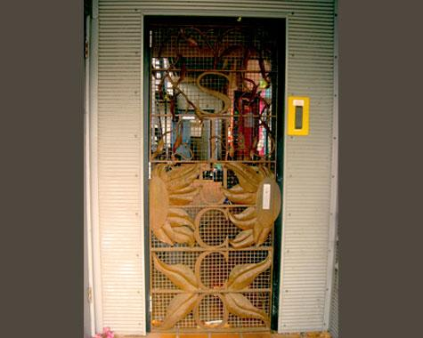 Stucco Security Door - Security Doors and Grills - Wrought Artworks - Iron work Australia