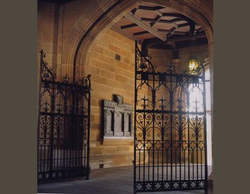Sydney University Quadrangle - Main Entrance Gate - Gates and Fences - Wrought Artworks - Iron work Australia