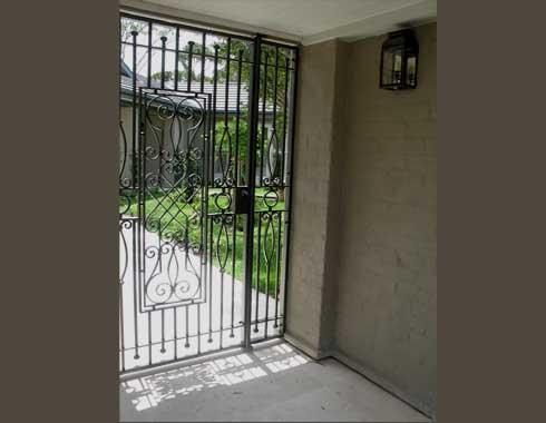 European Courtyard Gate - Gates and Fencing - Wrought Artworks - Iron work Australia