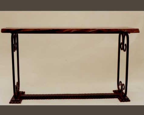 Moto Foyer Console - Tables and Chairs - Wrought Artworks - Iron work Australia